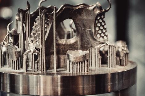 3D printed metal part