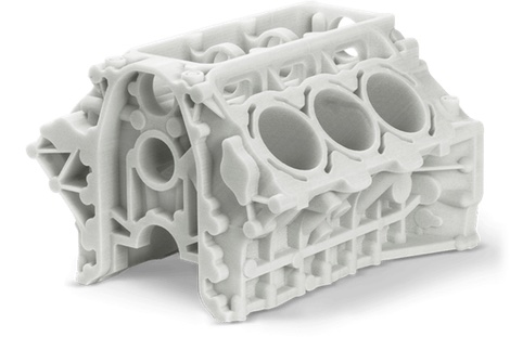 Part created with selective laser sintering technology
